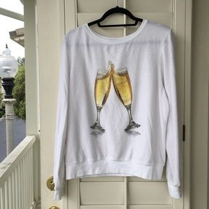 ❤️ Wildfox champagne flutes sweatshirt